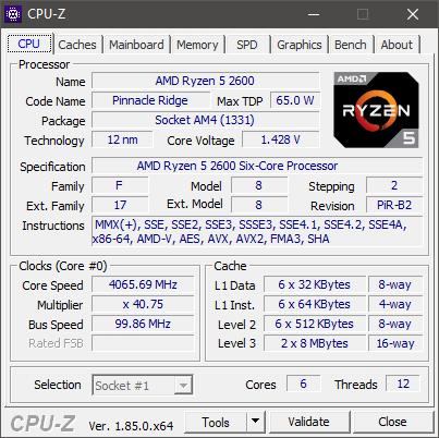 Ryzen 5 2600 CPU-Z kellotettu.png